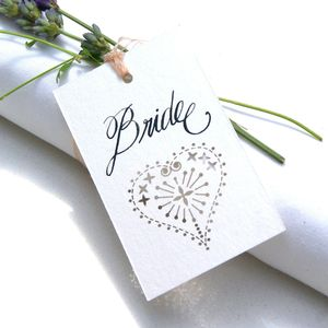 Wedding Place Card, Favour Or Gift Tags Laser Cut Heart - wedding stationery