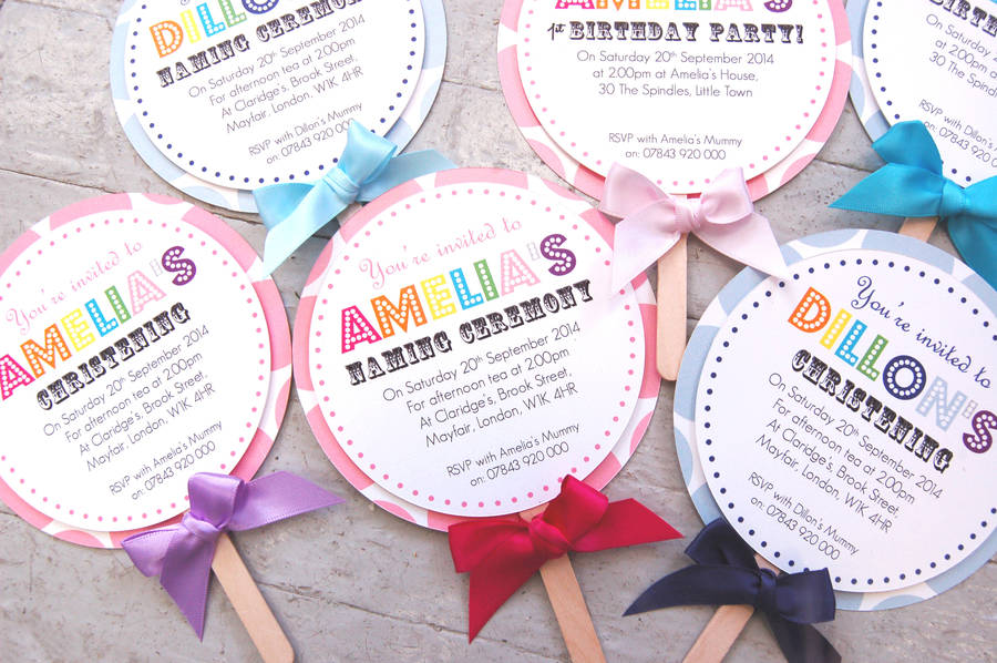 lollipop christening invitation by made with love designs ltd ...