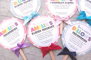 Lollipop Christening Invitation By Made With Love Designs Ltd