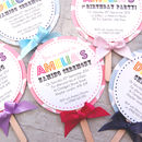 Lollipop Christening Invitation