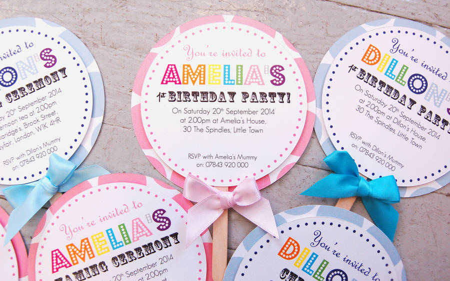 child\'s lollipop birthday party invitation by made with love designs ...