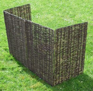 Windy Willows Wheelie Bin Screen Triple - garden structures
