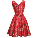 1950s Style Bird Print Tea Dress