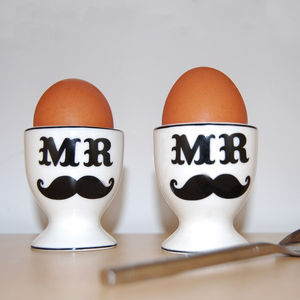 Mr And Mr Egg Cups - egg cups & cosies