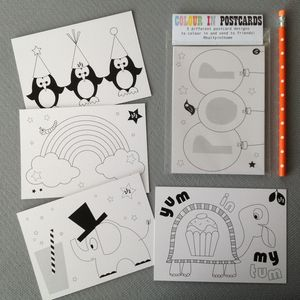 Five Colour In Postcards For Children