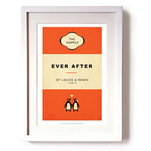 'The Happily Ever After Of…'Personalised' Print - posters & prints