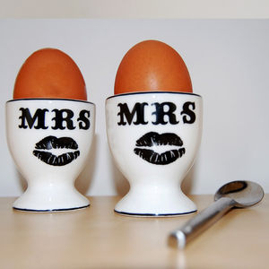 Mrs And Mrs Egg Cups - egg cups & cosies