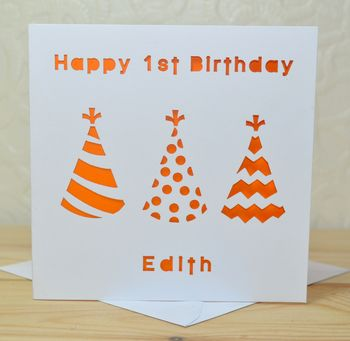 Personalised Laser Cut Hat Birthday Card