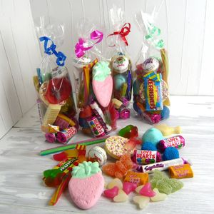 Large Retro Party Sweetie Bag - chocolates & confectionery