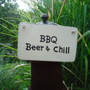 Personalised Barbecue/B B Q Sign