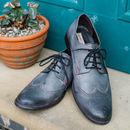 Milton Burnished Leather Derby Shoes