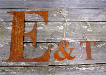 Rusty Metal Letters, Words Or Names