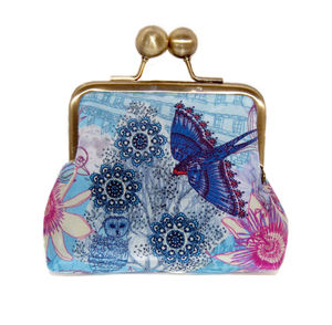 Passion Blue Silk Purse