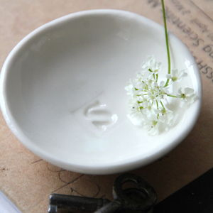 Porcelain Alphabet Bowl