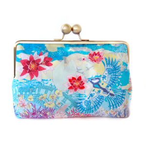 Cloud Lily Silk Clutch Bag - purses