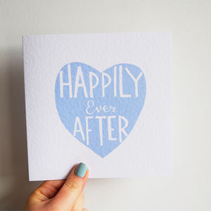 'Happily Ever After' Card - wedding cards