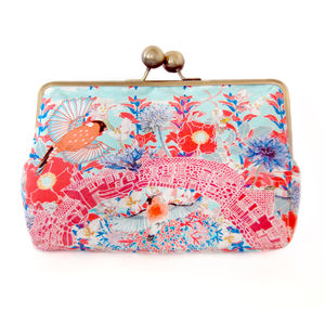 Rose Red Silk Clutch Bag - women's accessories