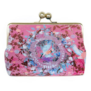 Ruby Glade Silk Clutch Bag - women's accessories