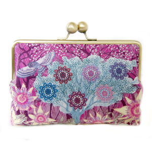 Shadow Berry Silk Clutch Bag - purses
