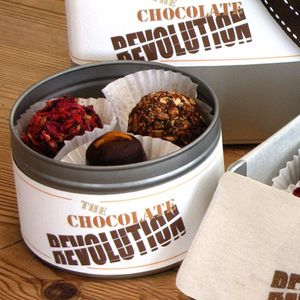 Two Tins Of Organic Naturally Sweetened Raw Chocolates