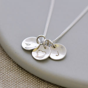 Sterling Silver Personalised Initial Necklace - gifts for her