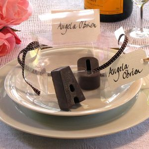 Two Organic Naturally Sweetened Raw Chocolate Initials - edible favours