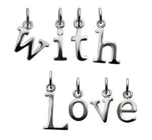 Selection Of Silver Letter Charms - children's jewellery