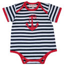 Stripes And Anchor Baby Grow