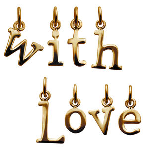 Selection Of Gold Letter Charms - children's jewellery