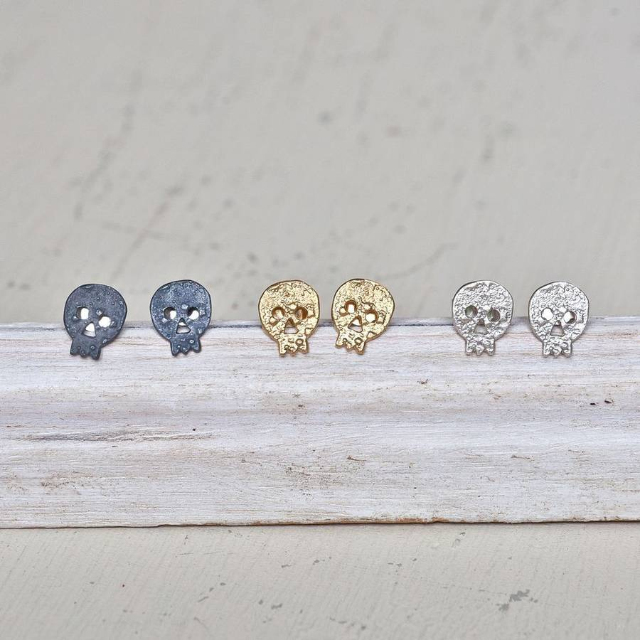 vintage black men from stud punk earring in skull silver for zabra studs eye sterling jewelry rock cubic zirconia item earrings