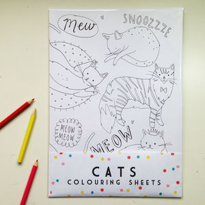 Cat Colouring Sheets - writing paper & sets
