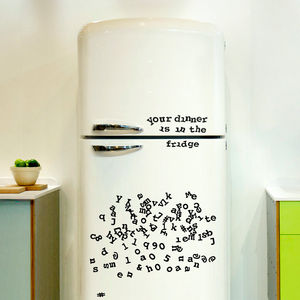 Alphabet Fridge Magnets - kitchen