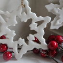 Handmade Porcelain Snowflake Decoration