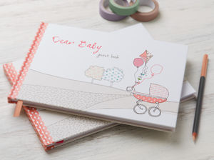 Baby Shower, Dear Baby Guest Book Pink