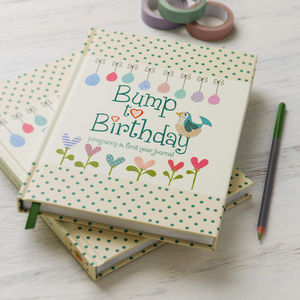 'Bump To Birthday' Journal - keepsakes