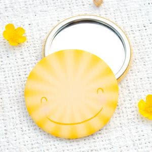 Happy Sun Pocket Mirror Or Magnet