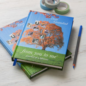 'Dear Grandad' Journal Of A Lifetime - gifts for grandmothers