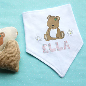 Personalised Bear Dribble Bib - baby care