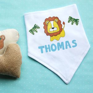 Personalised Lion Dribble Bib
