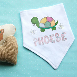 Personalised Tortoise Dribble Bib