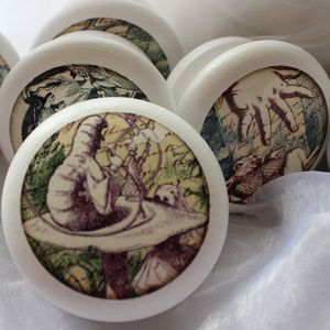 Alice In Wonderland Door Or Drawer Knob Set Of Twelve