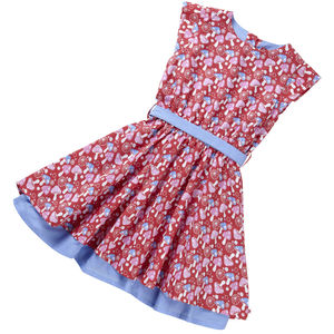 Party Dress Red Mushroom Print