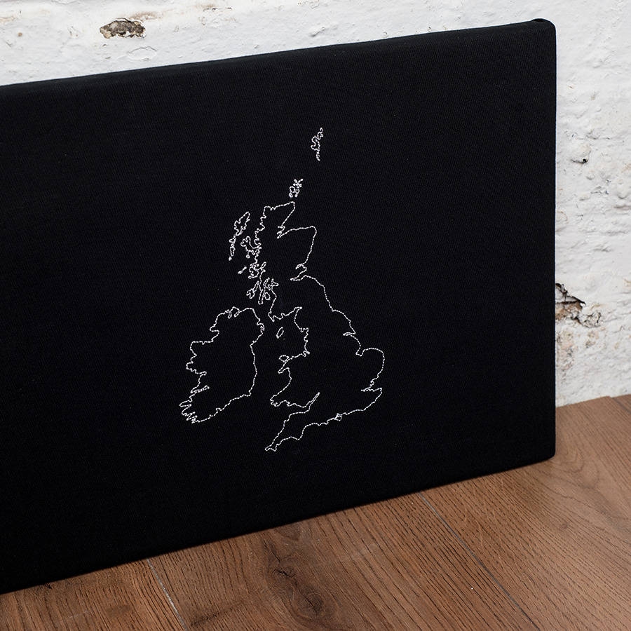 Personalised map notice board by thread squirrel british isles pin board close up personalised map notice board gumiabroncs Choice Image