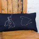 UK & Spain blue cushion