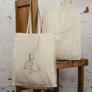 Maps Tote Bag. Two Countries