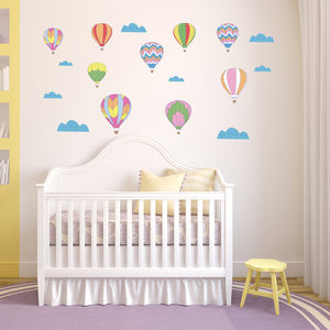 Vintage Hot Air Balloon Wall Stickers - children's decorative accessories