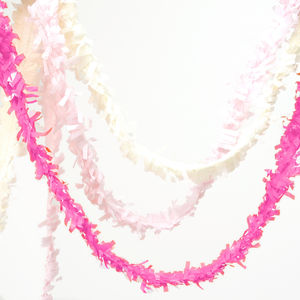 Tissue Fringe Festooning - children's parties