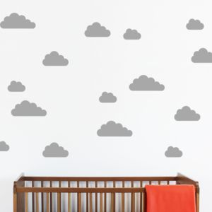 Mini Cloud Wall Stickers - children's room accessories