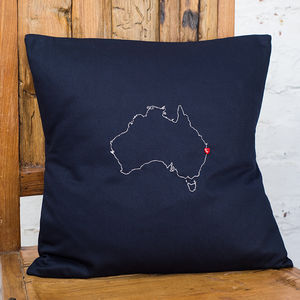 Personalised Australia Map Cushion Cover