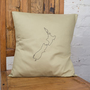 Personalised New Zealand Map Cushion Cover
